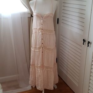 Free people baby pink maxi dress❤❤🏝